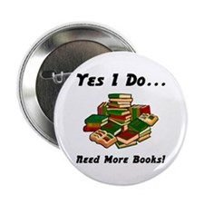 "More Books! 2.25"" Button"