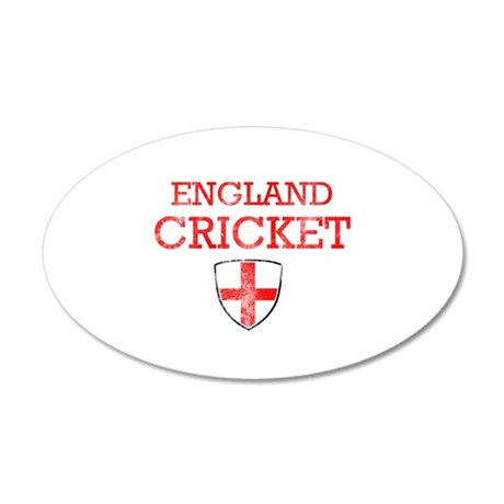 England Cricket designs 20x12 Oval Wall Decal