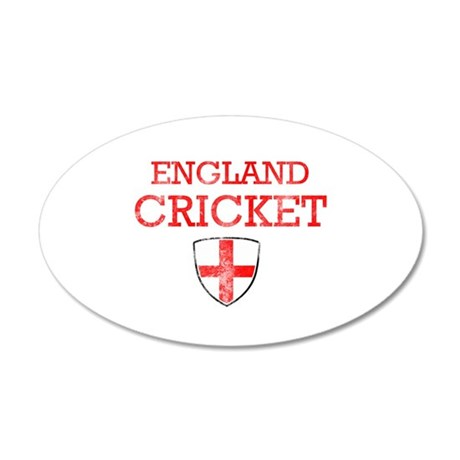 England Cricket designs 35x21 Oval Wall Decal
