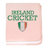 Ireland Cricket designs baby blanket