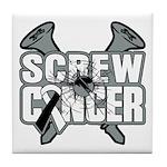 Screw Carcinoid Cancer Tile Coaster