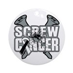 Screw Carcinoid Cancer Ornament (Round)