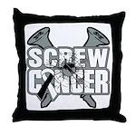 Screw Carcinoid Cancer Throw Pillow