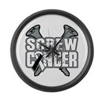 Screw Carcinoid Cancer Large Wall Clock