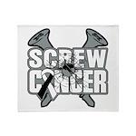 Screw Carcinoid Cancer Throw Blanket