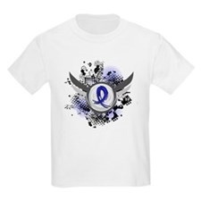 Wings and Ribbon Child Abuse T-Shirt