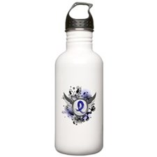 Wings and Ribbon Child Abuse Water Bottle