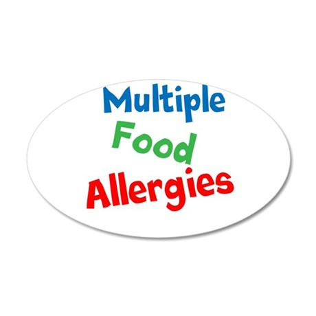 Multiple Food Allergies 20x12 Oval Wall Decal