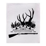 Muzzle Loader hunter Throw Blanket