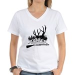 Muzzle Loader hunter Women's V-Neck T-Shirt