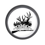 Muzzle Loader hunter Wall Clock