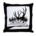 Muzzle Loader hunter Throw Pillow