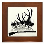 Muzzle Loader hunter Framed Tile