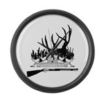 Muzzle Loader hunter Large Wall Clock