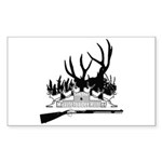 Muzzle Loader hunter Sticker (Rectangle 50 pk)