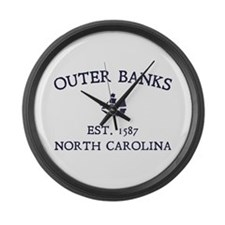 Outer Banks Established 1587 Large Wall Clock