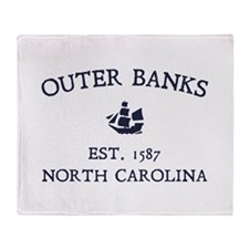 Outer Banks Established 1587 Throw Blanket