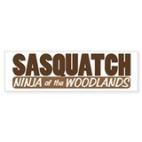 Sasquatch Ninja Bumper Car Sticker