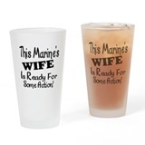 This Marine Wife2 In Black Writing.png Drinking Gl