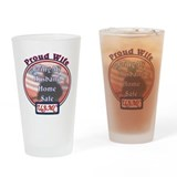 3-Proud Wife USMC.jpg Drinking Glass