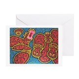 Hippo Aria Greeting Cards (Pk of 10)