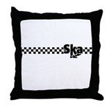 Ska Dancing Feet with Checkers Throw Pillow