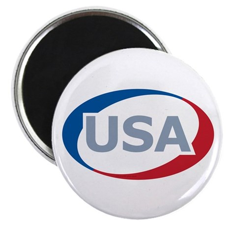 "USA Oval: 2.25"" Magnet (100 pack)"