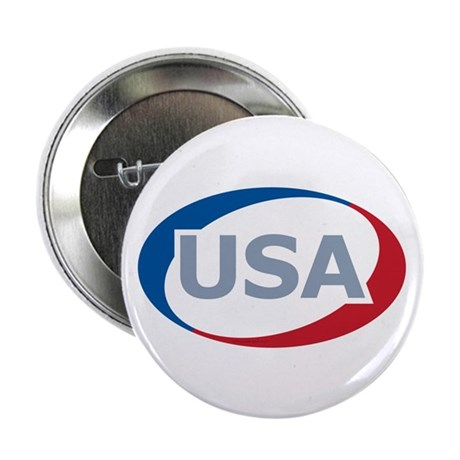 "USA Oval: 2.25"" Button (100 pack)"