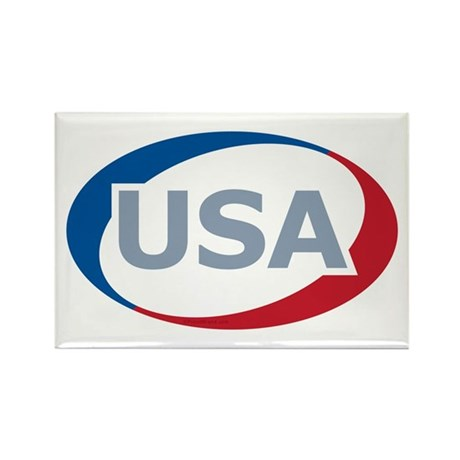 USA Oval: Rectangle Magnet (100 pack)