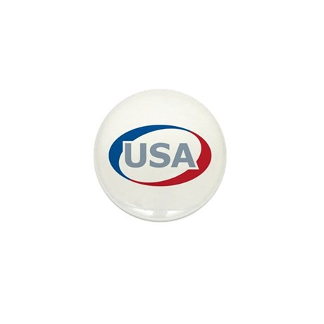 USA Oval: Mini Button (10 pack)