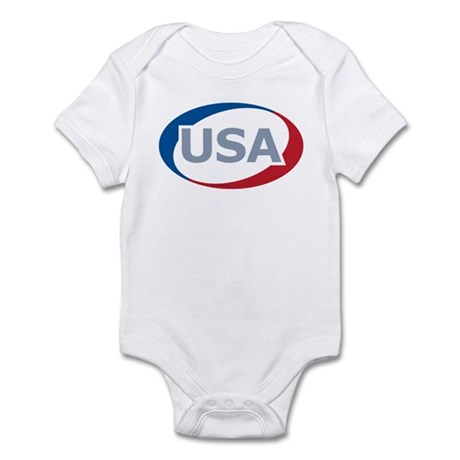USA Oval: Infant Creeper