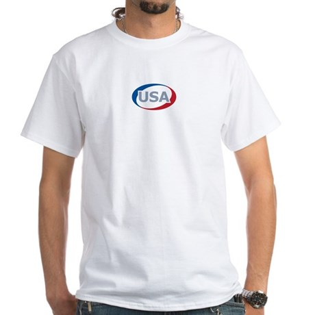 USA Oval: White T-Shirt