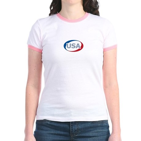 USA Oval: Jr. Ringer T-Shirt