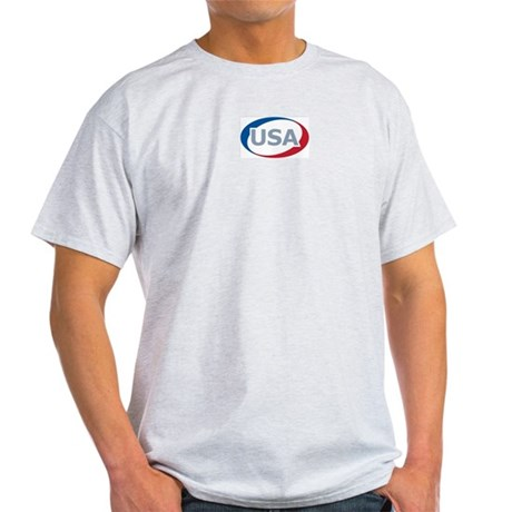 USA Oval: Ash Grey T-Shirt