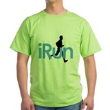 iRun in Blue T-Shirt