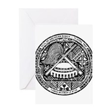 American Samoa Coat Of Arms Greeting Card