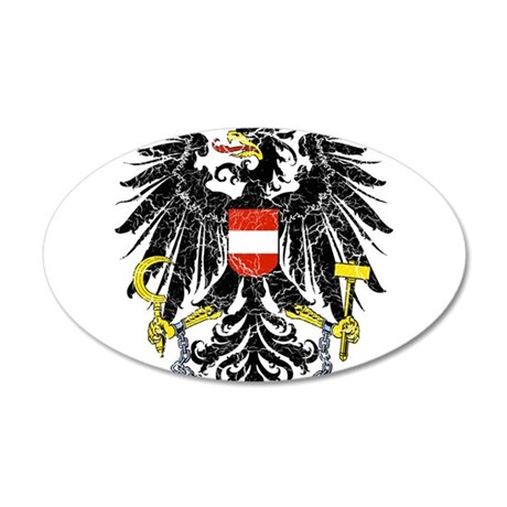 Austria Coat Of Arms 20x12 Oval Wall Decal