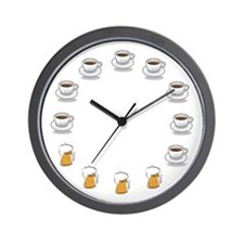 Coffee and Beer Wall Clock