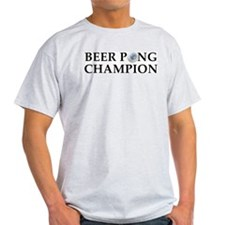 Beer Pong Champion Ash Grey T-Shirt