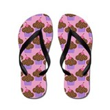 Cute Chocolate Cupcakes Flip Flops