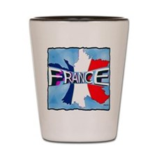 france holiday illustration art Shot Glass