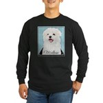 Cute Maltese Long Sleeve Dark T-Shirt