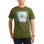 Cute Maltese Organic Men's T-Shirt (dark)