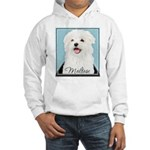 Cute Maltese Hooded Sweatshirt