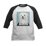 Cute Maltese Kids Baseball Jersey