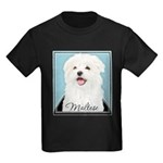 Cute Maltese Kids Dark T-Shirt