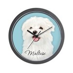 Cute Maltese Wall Clock