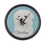 Cute Maltese Large Wall Clock