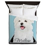 Cute Maltese Queen Duvet