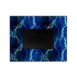 Cyan Lightning Look Picture Frame